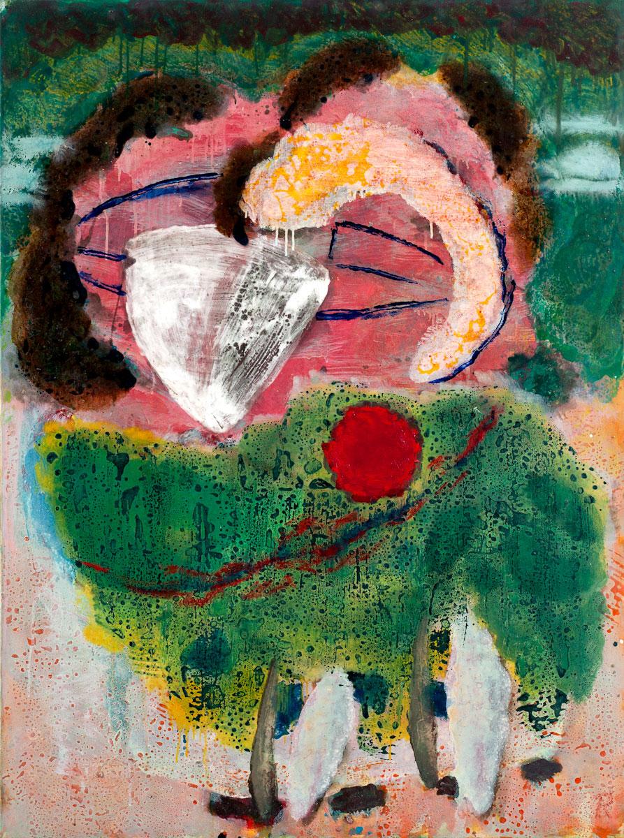 Rolf Behm, Exot Grün, 1997, Öl auf Leinwand, 120 x 90 cm