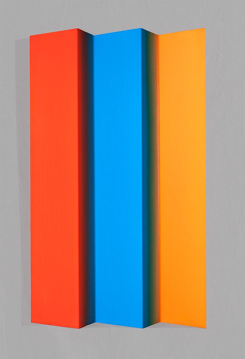Edgar Diehl, HANKLA IV, 1998, Acryl auf Aluminium, 75 x 48 x 4 cm